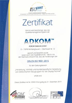 Surveillance Audit DIN EN ISO 9001:2015