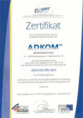 Surveillance Audit DIN EN ISO 9001:2015